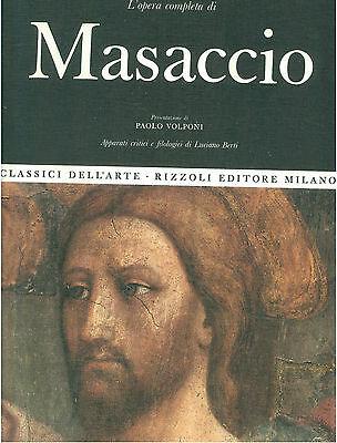 Copertina de L'opera completa di Masaccio, presentazione di Paolo Volponi, apparati critici e filologici di Luciano Berti, Classici dell'Arte Rizzoli, 1968