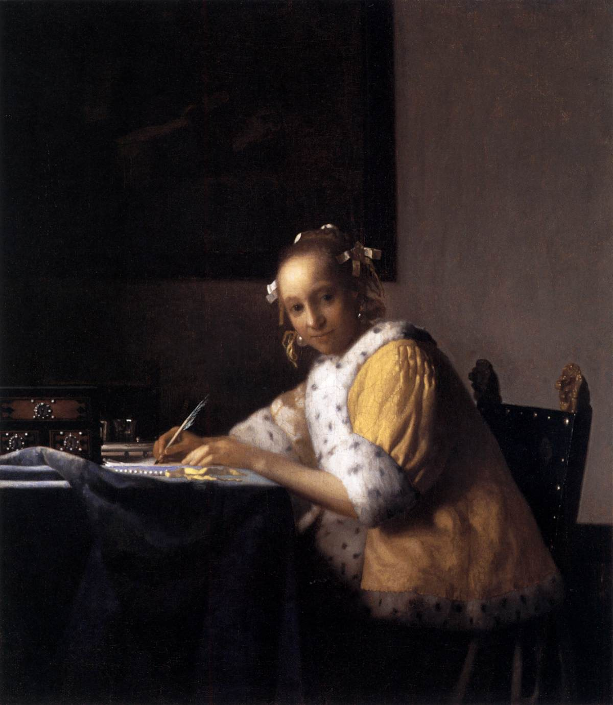 Johannes Vermeer, Donna che scrive una lettera, 1665-66, National Gallery of Art