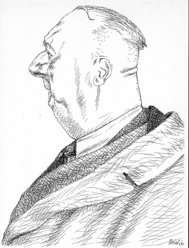 Tullio Pericoli, Carlo Emilio Gadda, 1990