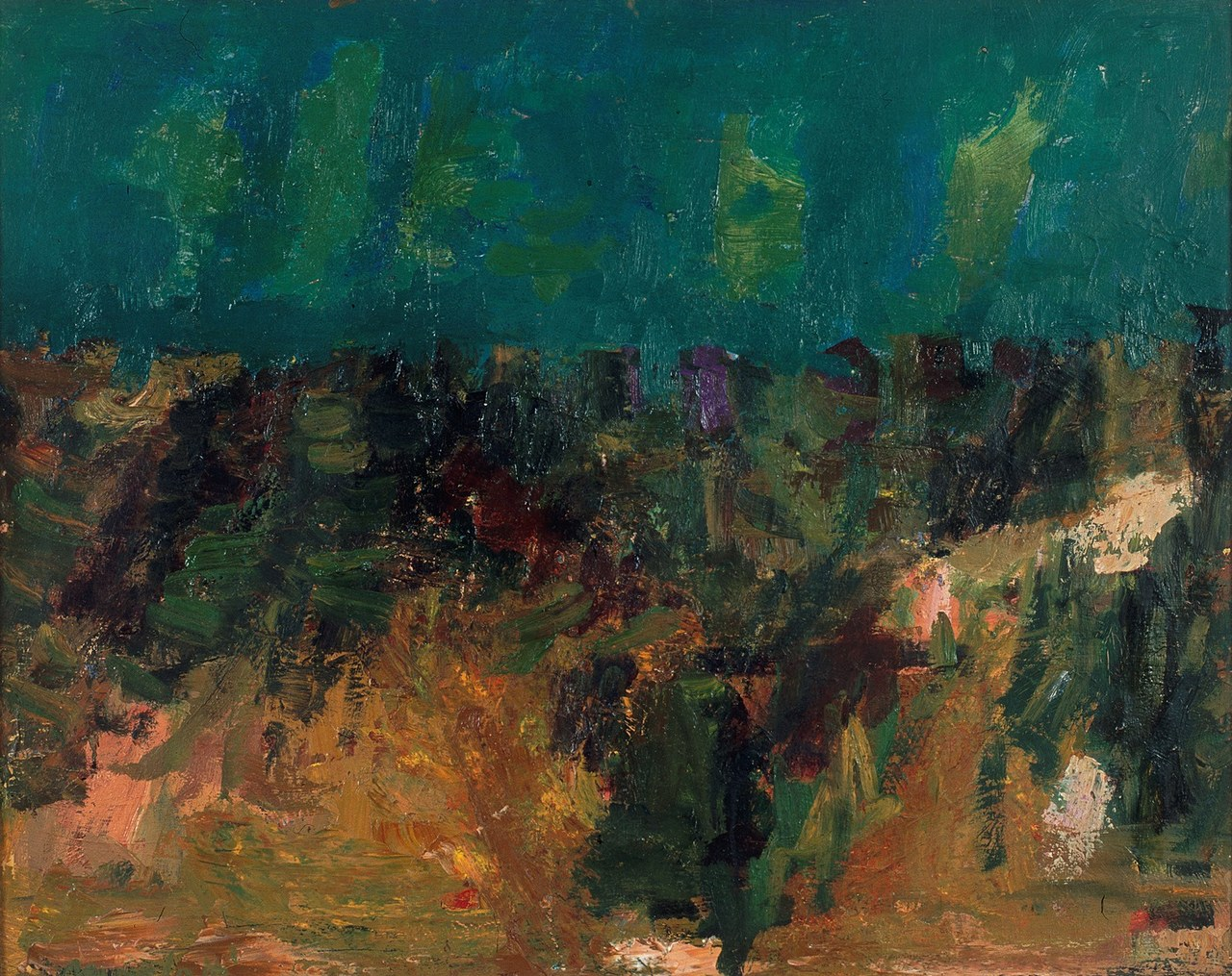 Ennio Morlotti, Paesaggio, 1955, MAGA, Gallarate