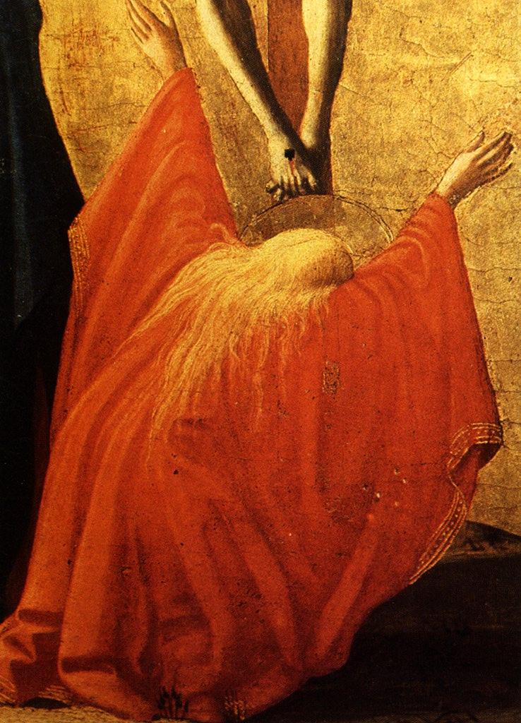 Masaccio, dettaglio della Crocifissione, 1426, Museo di Capodimonte, Napoli