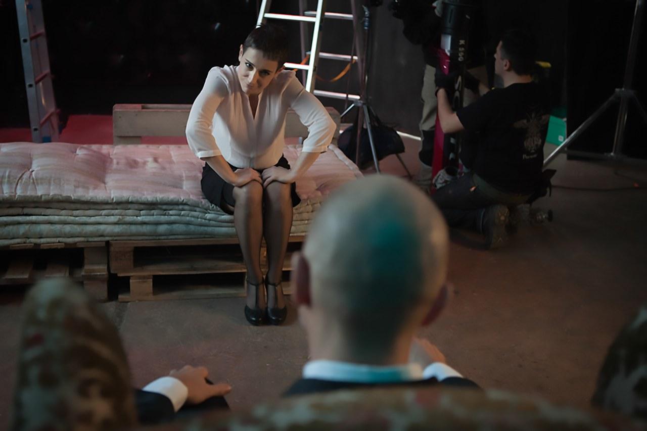 Slavina Perez e Alberto Alemanno sul set diInsight